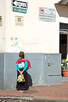 Woman in traditional dress, Quito, Ecuador, South America