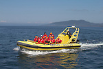 Prince of Whales, whale watching tours, whale watching boat with passengers from Victoria, British Columbia, in the Strait of Juan de Fuca off San Juan Island, Salish Sea,