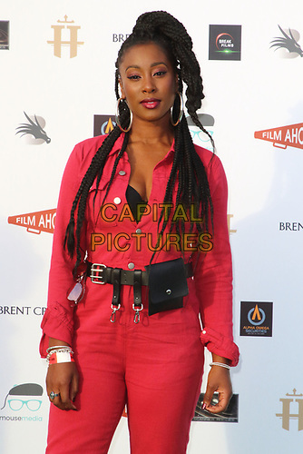 Scarlette Douglas at the first ever UK Drive-In Film Premiere of 'Break' at Brent Cross in London. This is the first Red Carpet event in the UK since the Covid-19 Pandemic lockdown. The film will be rolled out nationwide in other drive-in venues. Brent Cross, London 22nd July 2020<br /> CAP/ROS<br /> ©ROS/Capital Pictures
