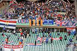 22.08.2019 Legia Warsaw v Rangers: Rangers fans kept in for an hour at full time