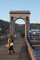 Passerelle Marc seguin, cable bridge hermitage rhone france