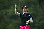 Han Sol Ji of South Korea checks the wind at the 14th hole during Round 3 of the World Ladies Championship 2016 on 12 March 2016 at Mission Hills Olazabal Golf Course in Dongguan, China. Photo by Victor Fraile / Power Sport Images