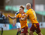 Craig Tanner celebrates his goal for Motherwell