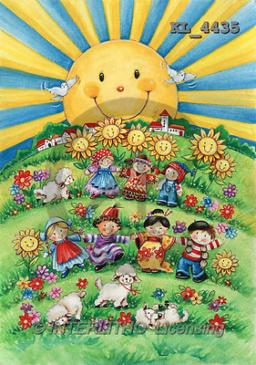 Interlitho, CHILDREN, paintings+++++,children of the world,KL4435,#k# Kinder, niños ,Theresa ,everyday
