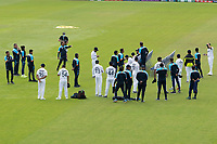 The Indian players congregate before a team photo shoot during a training session ahead of the ICC World Test Championship Final at the Ageas Bowl on 17th June 2021