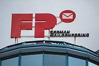 Logo des Frankiermaschienenherstellers Francotyp-Postalia am Firmensitz in Berlin-Pankow.<br /> 16.3.2021, Berlin<br /> Copyright: Christian-Ditsch.de