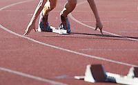 Start eines Sprinters. Foto: Jan Kaefer / aif