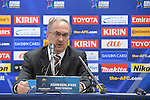 Uli Stielike, head coach of Korea Republic national team, attend a press conference after the 2018 FIFA World Cup Russia Asian Qualifiers Final Qualification Round Group A match between Korea Republic and Qatar at Suwon World Cup Stadium on 06 October 2016, in Suwon, South Korea. Photo by Lucas Schifres / Power Sport Images