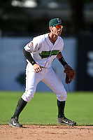 Jamestown Jammers shortstop Tyler Filliben (8) during a game against the Mahoning Valley Scrappers on June 15, 2014 at Russell Diethrick Park in Jamestown, New York.  Jamestown defeated Mahoning Valley 9-4.  (Mike Janes/Four Seam Images)
