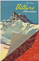 BNPS.co.uk (01202 558833)<br /> Pic: Lyon&Turnbull/BNPS<br /> <br /> Pictured: Villars priced at £1500<br /> <br /> A stunning set of vintage ski posters depicting the halcyon days of European winter holidays has emerged for sale.<br /> <br /> They feature early lithograph prints of advertising posters for glamorous resorts including Champery and Gstaad.<br /> <br /> The earliest posters in the sale date from the turn of the 20th century, with the most recent examples from the 1960s.<br /> <br /> Seventy posters, which range in value from £300 to £9,000, are being sold by Lyon & Turnbull, of Edinburgh, in conjunction with poster specialists Tomkinson Churcher.<br /> <br /> As transport links improved in the 1920s and '30s, skiing holidays grew in popularity. To take advantage of this boom, prestigious resorts commissioned the finest graphic artists to create art deco style advertisements urging holiday-makers to visit.