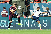 DENVER, CO - JUNE 6: DeAndre Yedlin #22 of the United States passes the ball during a game between Mexico and USMNT at Mile High on June 6, 2021 in Denver, Colorado.