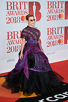 Noomi Rapace<br /> arriving for the BRIT Awards 2018 at the O2 Arena, Greenwich, Leicester Square, London<br /> <br /> ©Ash Knotek  D3383  21/02/2018<br /> <br /> *photos for editorial use only in connection with the BRITs*