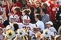 2 December 2006: Wopamo Osaisai, Jon Cochran and Trevor Hooper during Stanford's 26-17 loss to Cal in the 109th Big Game at Memorial Stadium in Berkeley, CA.