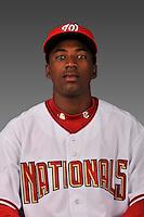 14 March 2008: ..Portrait of Dani Arias, Washington Nationals Minor League player at Spring Training Camp 2008..Mandatory Photo Credit: Ed Wolfstein Photo