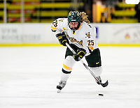 30 October 2009: University of Vermont Catamount defenseman Shannon Bellefeuille, a Sophomore from Kanata, Ontario, in action against the Northeastern University Huskies at Gutterson Fieldhouse in Burlington, Vermont. The Catamounts were shut out by the visiting Huskies 3-0. Mandatory Credit: Ed Wolfstein Photo