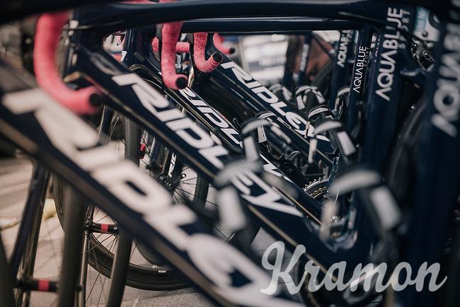 Team Aqua Blue Sport teambikes lined up before the start<br /> <br /> 77th Euro Metropole Tour 2017<br /> La Louvière > Tournai (BEL): 188.6 km