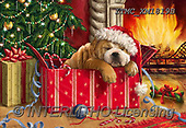 Marcello, CHRISTMAS ANIMALS, WEIHNACHTEN TIERE, NAVIDAD ANIMALES, paintings+++++,ITMCXM1819B,#XA# ,fireplace