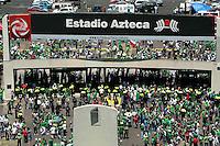 Action photo of Mexico fans, during World  Cup 2010 qualifier game against USA at the Azteca Stadium./Foto de accion de fans de Mexico, durante juego eliminatorio de Copa del Mundo 2010 en contra de Estados Unidos en el Estadio Azteca. 12 August 2009.