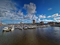 Swansea Marina in Swansea, Wales, UK. Sunday 16 May 2021