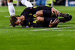 Fernando Llorente of Tottenham Hotspur FC lies injure on the pitch during the UEFA Champions League 2017-18 match between Real Madrid and Tottenham Hotspur FC at Estadio Santiago Bernabeu on 17 October 2017 in Madrid, Spain. Photo by Diego Gonzalez / Power Sport Images
