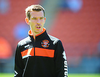 Blackpool First-Team Coach Richie Kyle during the pre-match warm-up <br /> <br /> Photographer Kevin Barnes/CameraSport<br /> <br /> Football - The EFL Sky Bet League Two - Blackpool v Exeter City - Saturday 6th August 2016 - Bloomfield Road - Blackpool<br /> <br /> World Copyright © 2016 CameraSport. All rights reserved. 43 Linden Ave. Countesthorpe. Leicester. England. LE8 5PG - Tel: +44 (0) 116 277 4147 - admin@camerasport.com - www.camerasport.com
