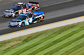 NASCAR Camping World Truck Series<br /> UNOH 175 <br /> New Hampshire Motor Speedway<br /> Loudon, NH USA<br /> Saturday 23 September 2017<br /> Christopher Bell, SiriusXM Toyota Tundra and Noah Gragson, Switch Toyota Tundra<br /> World Copyright: Nigel Kinrade<br /> LAT Images