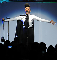 "SMG_Janelle Monae_Fillmore_051111_01.JPG<br /> <br /> MIAMI BEACH, FL - MAY 11:  Janelle Monae performs on the Bruno Mars Hooligans in Wonderland tour at the Fillmore Miami Beach.  Janelle Monáe (born December 1, 1985) is an American singer, songwriter, dancer, and performer. She is currently signed to the Wondaland Arts Society and Bad Boy/Atlantic Records. Monáe first introduced herself to the music scene with a conceptual EP, Metropolis: Suite I (The Chase), which gained her a Grammy nomination for her track ""Many Moons.   on May 11, 2011 in Miami Beach, Florida. (Photo By Storms Media Group)<br />  <br /> People:   Janelle Monae<br /> <br /> Must call if interested<br /> Michael Storms<br /> Storms Media Group Inc.<br /> 305-632-3400 - Cell<br /> 305-513-5783 - Fax<br /> MikeStorm@aol.com"