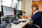 Maura Jones from Moyderwell Primary school teaching online at home to her students on Friday morning.