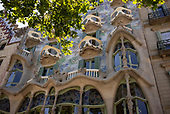 Barcelona, Spain<br /> Catalonia<br /> June 24, 2021<br /> <br /> Casa Batlló at Passeig de Gràcia was designed by architect Antoni Gaudí, and is considered one of his masterpieces. A remodel of a previously built house, it was redesigned in 1904 by Gaudí and has been refurbished several times since.