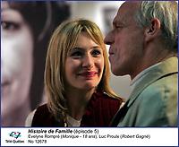 Evelyne Rompre et Luc Proulx<br />  dans Histoire de Famille<br /> <br /> Editorial Only - for media use only<br /> Pour usage media (editorial)  Uniquement<br /> <br /> (c) Tele Quebec