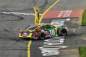 #18: Kyle Busch, Joe Gibbs Racing, Toyota Camry M&M's Flavor Vote celebrates his win