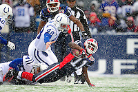 3 January 2010: Buffalo Bills' wide receiver Roscoe Parrish in action against the Indianapolis Colts during a cold, snowy, final game of the season at Ralph Wilson Stadium in Orchard Park, New York. The Bills defeated the Colts 30-7. Mandatory Credit: Ed Wolfstein Photo