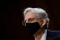 WASHINGTON, DC - FEBRUARY 22: Attorney General nominee Merrick Garland listens to opening statements during his confirmation hearing before the Senate Judiciary Committee in the Hart Senate Office Building on February 22, 2021 in Washington, DC. Garland previously served at the Chief Judge for the U.S. Court of Appeals for the District of Columbia Circuit. <br /> Credit: Drew Angerer / Pool via CNP /MediaPunch