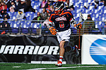 Face-Off Classic: Attackmen Steele Stanwick #6 of the Virginia CCavaliers during the Virginia v Cornell mens lacrosse game at M&T Bank Stadium on March 10, 2012 in Baltimore, Maryland. (Ryan Lasek/Eclipse Sportswire)