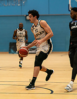 Louis Sayers of Newcastle Eagles during the BBL Championship match between Surrey Scorchers and Newcastle Eagles at Surrey Sports Park, Guildford, England on 20 March 2021. Photo by Liam McAvoy.