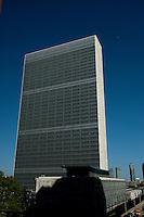 NEW YORK-NY-29-04-2012 . Edificio de la Organización de las Naciones Unidas (ONU) en la ciudad de Nueva York. United Nations Building(UN) in New York City (Photo: VizzorImage/Luis Ramirez)...
