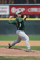 University of South Florida Bulls pitcher Lawrence Pardo (42) during a game against the Temple University Owls at Campbell's Field on April 13, 2014 in Camden, New Jersey. USF defeated Temple 6-3.  (Tomasso DeRosa/ Four Seam Images)