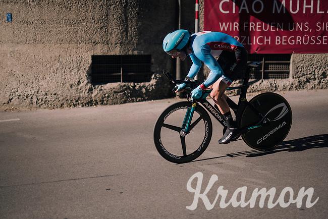 Hugo Houle (CAN/Astana)<br /> <br /> MEN ELITE INDIVIDUAL TIME TRIAL<br /> Hall-Wattens to Innsbruck: 52.5 km<br /> <br /> UCI 2018 Road World Championships<br /> Innsbruck - Tirol / Austria