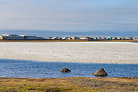 Native Alaska Inupiaq eskimo village of Barrow, Alaska.