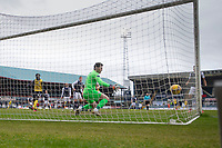 20th February 2021; Dens Park, Dundee, Scotland; Scottish Championship Football, Dundee FC versus Queen of the South; Rhys Breen of Queen of the South scores for 2-0 in the 38th minute