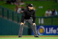 Umpire Ben Phillips during a game between the Worcester Red Sox and Rochester Red Wings on September 3, 2021 at Frontier Field in Rochester, New York.  (Mike Janes/Four Seam Images)