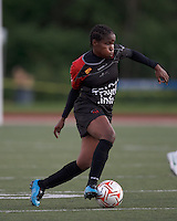 FC Indiana midfielder Wisline Dolce (10) dribbles. In a Women's Premier Soccer League Elite (WPSL) match, the Boston Breakers defeated FC Indiana, 4-1, at Dilboy Stadium on May 18, 2012.