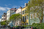 Rainbow Row, East Bay St,  Charleston, SC
