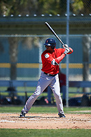 Boston Red Sox Jose Sermo (31) bats during a minor league Spring Training game against the Baltimore Orioles on March 16, 2017 at the Buck O'Neil Baseball Complex in Sarasota, Florida. (Mike Janes/Four Seam Images)
