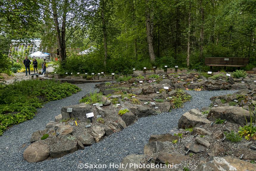 Rock garden at Alaska Botanical Garden, Anchorage