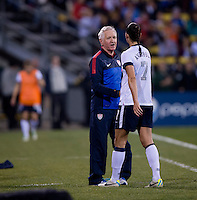 Yael Averbuch, Tom Sermanni. The USWNT tied New Zealand, 1-1, at an international friendly at Crew Stadium in Columbus, OH.