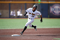 West Virginia Black Bears Blake Sabol (24) running the bases during a NY-Penn League game against the Batavia Muckdogs on August 29, 2019 at Monongalia County Ballpark in Morgantown, New York.  West Virginia defeated Batavia 5-4 in ten innings.  (Mike Janes/Four Seam Images)