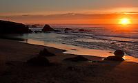 Sunset on the Northern California coastline.