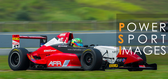 James Runacres of Asia Racing Team drives during the 2015 AFR Series as part of the 2015 Pan Delta Super Racing Festival at Zhuhai International Circuit on September 19, 2015 in Zhuhai, China.  Photo by Moses Ng/Power Sport Images