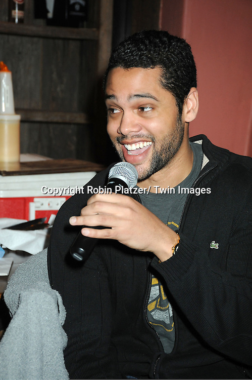 Barret Helms attends The One Life To Live Benefit for The Amber Roach Memorial Garden on January 7, 2012 at Brother .Jimmy's Union Square Restaurant in New York City.